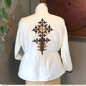Vintage 70s homemade embroidered hippie jacket